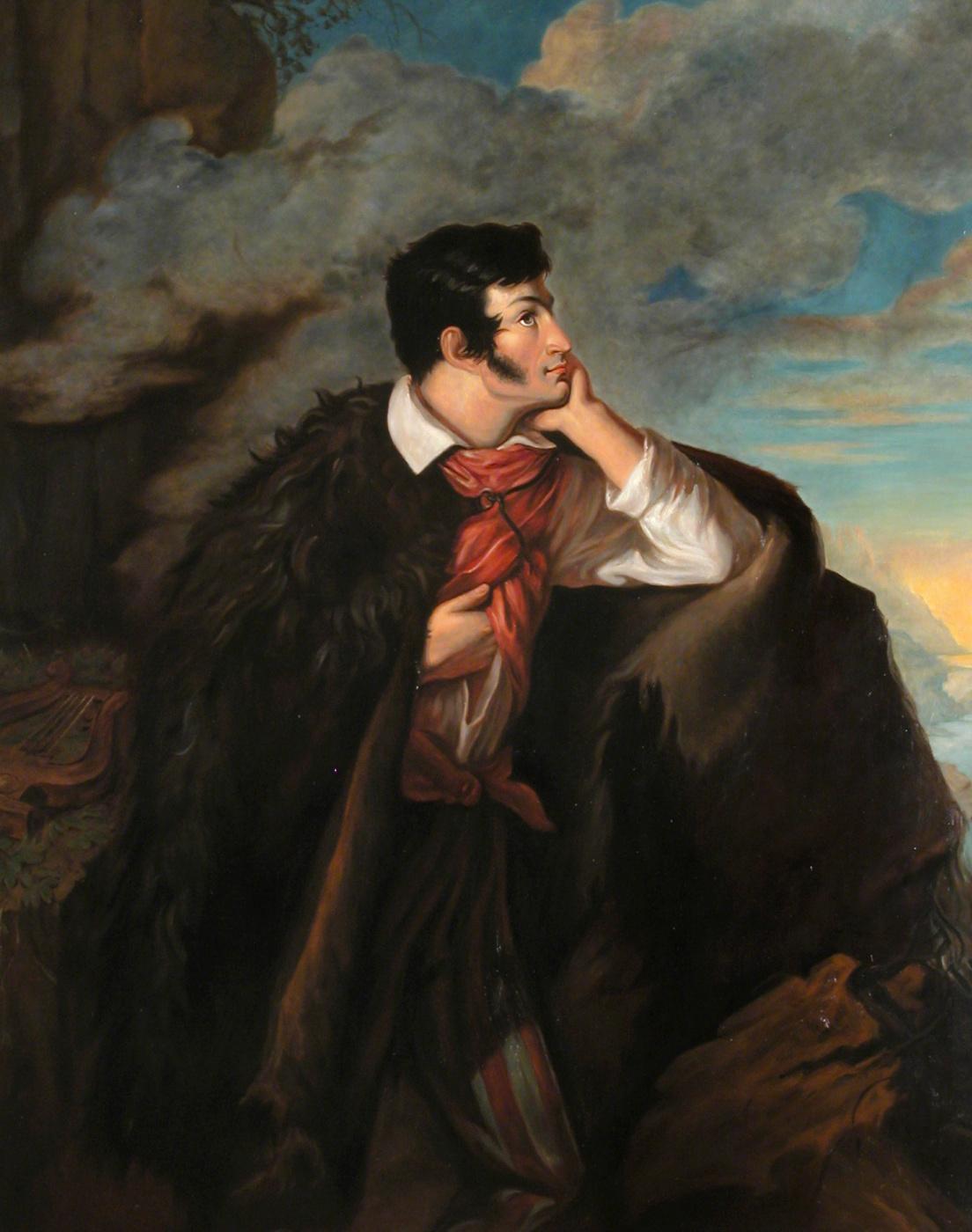Valentine Mel'chiorovich Vankovich. Portrait of Adam Mickiewicz on the Ayu-Dag rock