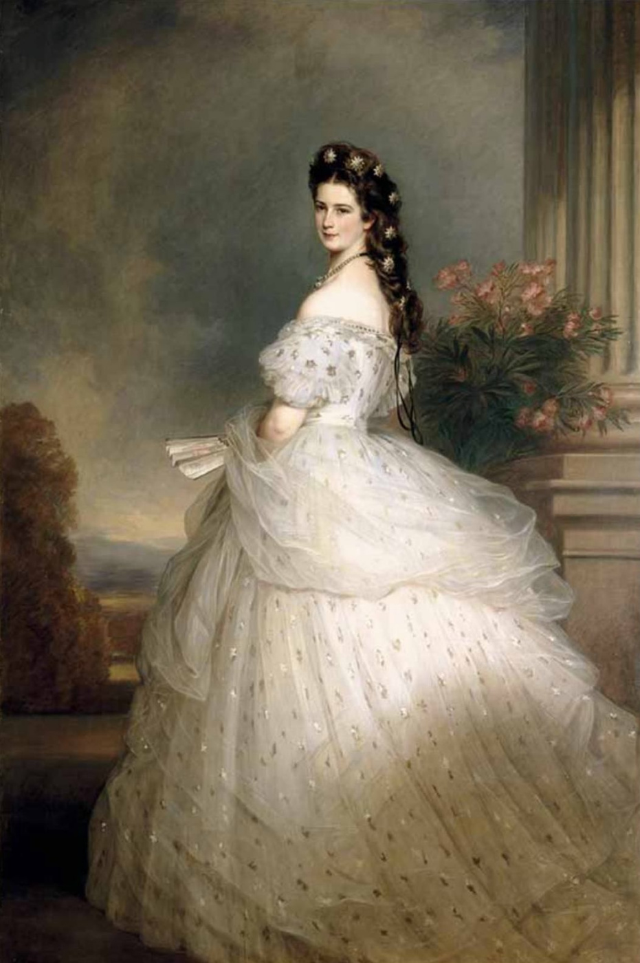 Франц Ксавер Винтерхальтер. Императрица Елизавета Австрийская в парадном платье с алмазными звездами