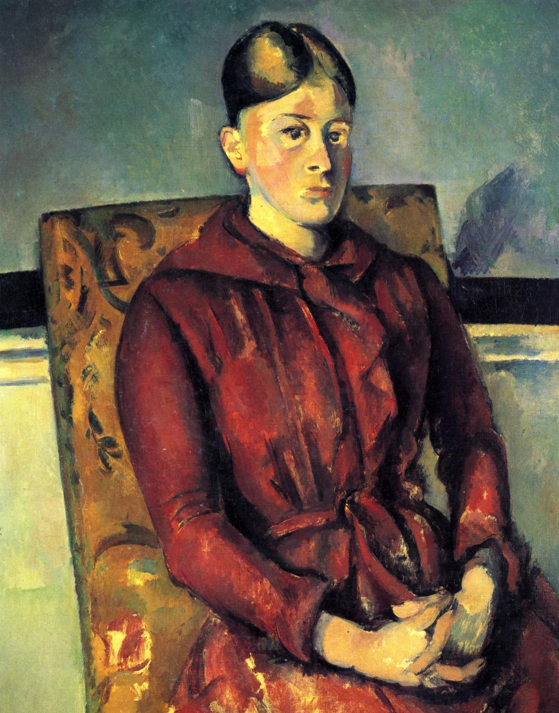 Paul Cezanne. Madame Cezanne in a yellow chair