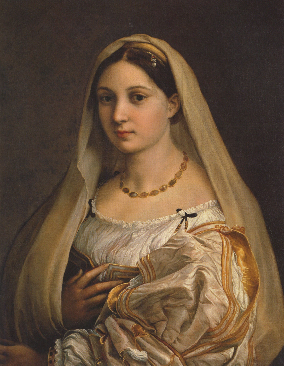 Raphael Sanzio. Donna Velata (the veiled Woman, portrait Fornarina)