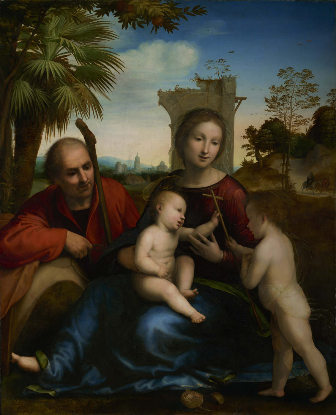 Fra Bartolomeo. Rest on the Flight to Egypt with St. John the Baptist