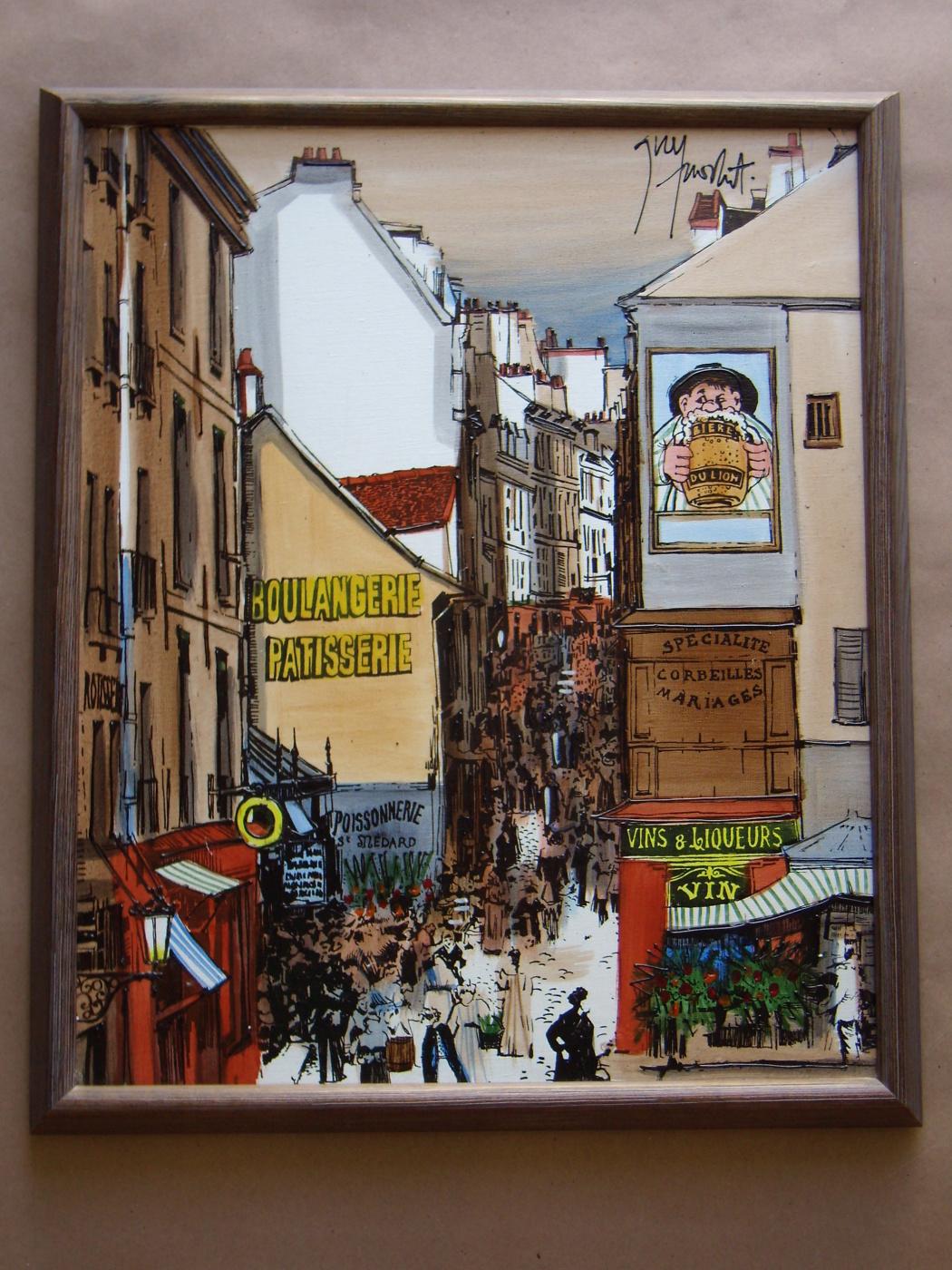 Unknown artist. Paris street scene.