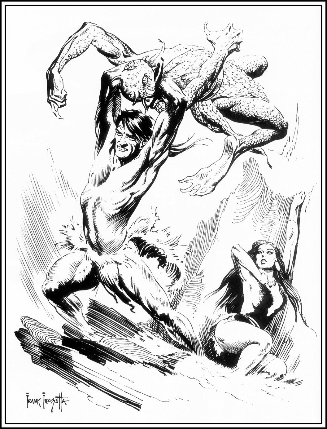 Frank Frazetta. Tarzan in the main land