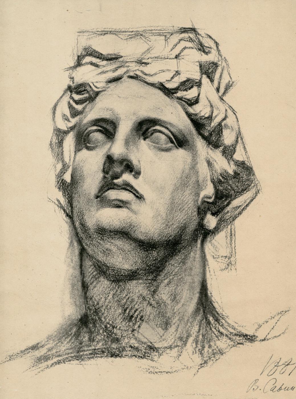 Vasily Evmen'evich Savinsky. Head Of Apollo. Etude