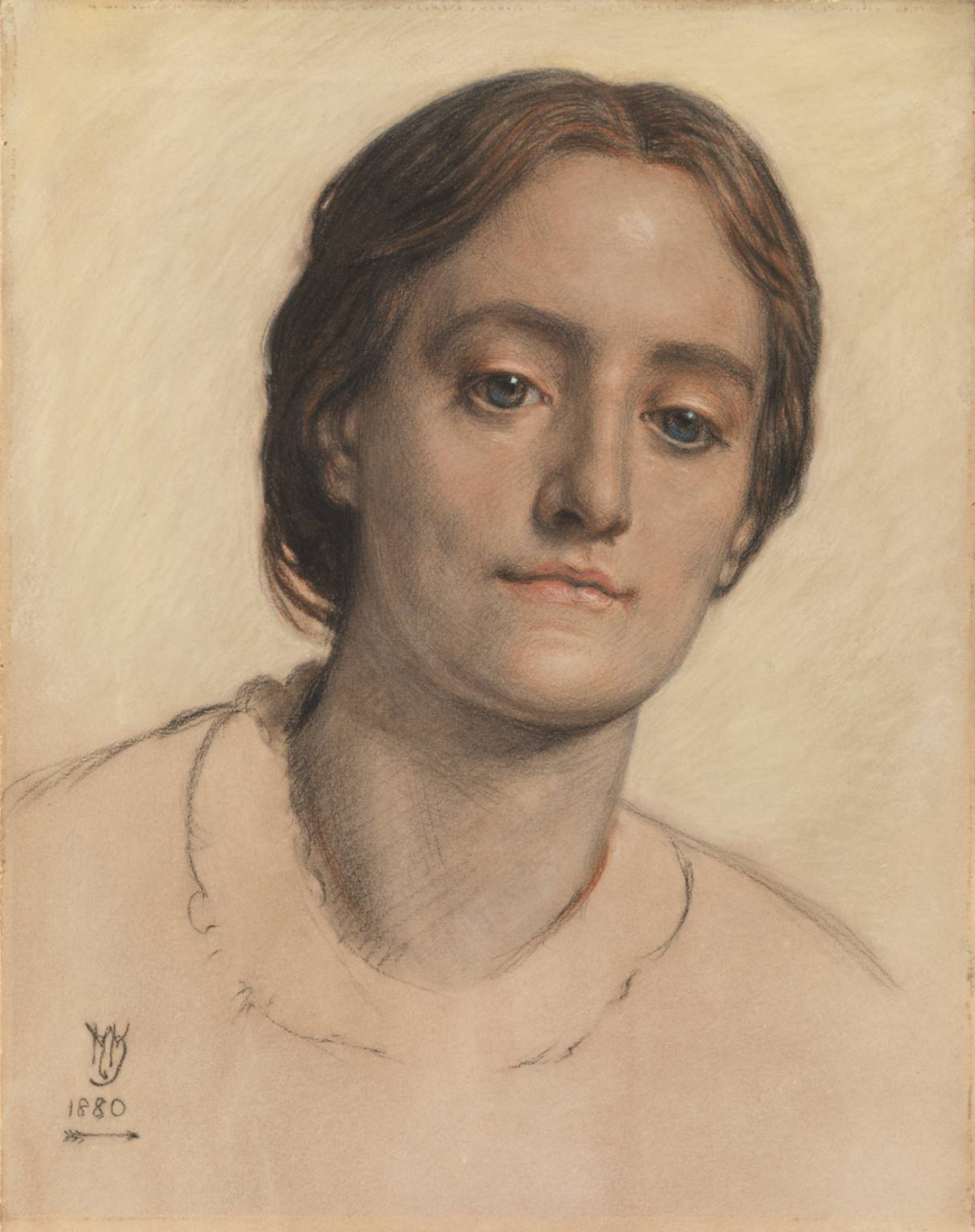 William Holman Hunt. Portrait of Mrs Edith Holman hunt