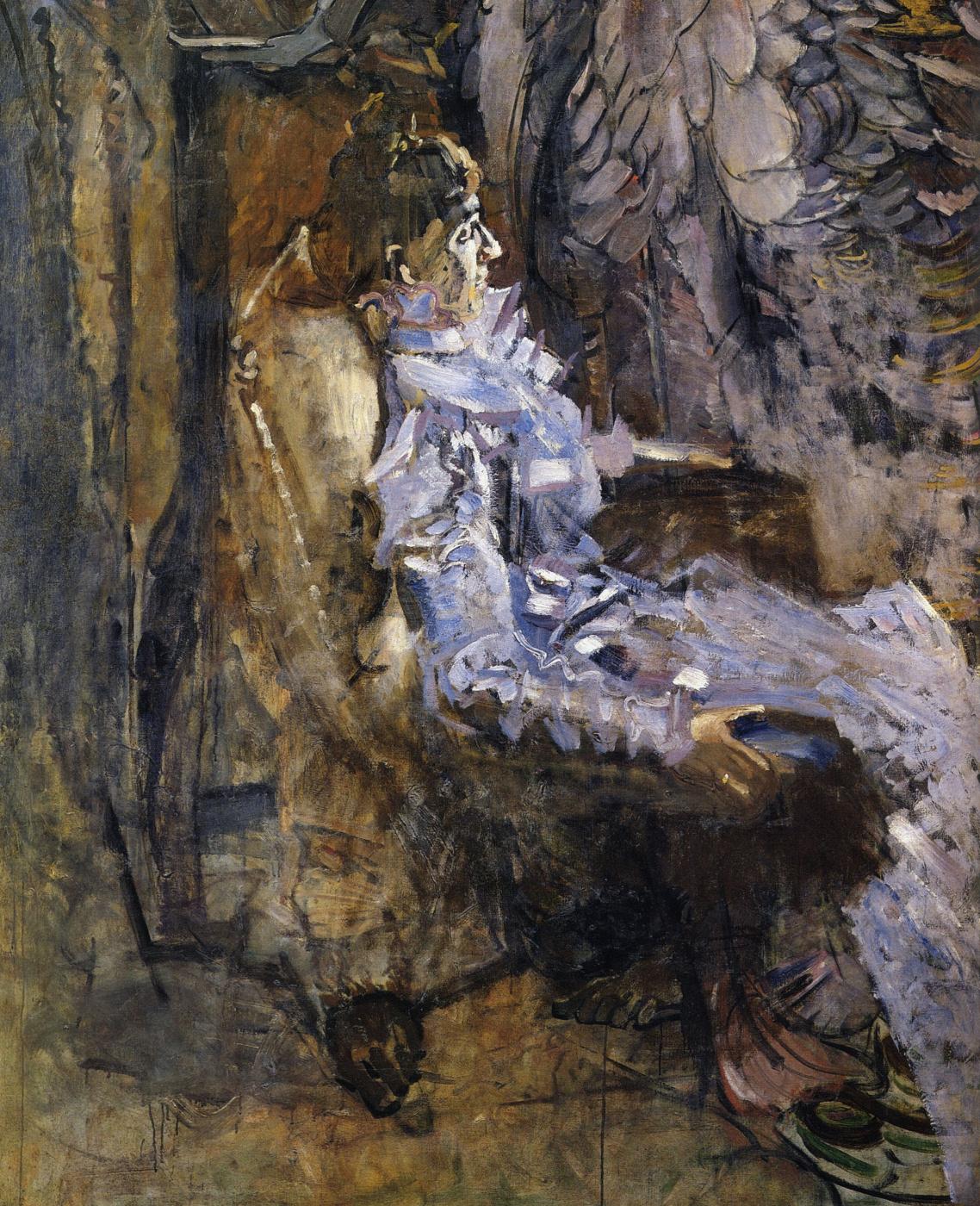 Mikhail Vrubel. The lady in purple. Portrait Of Nadezhda Ivanovna Zabela-Vrubel