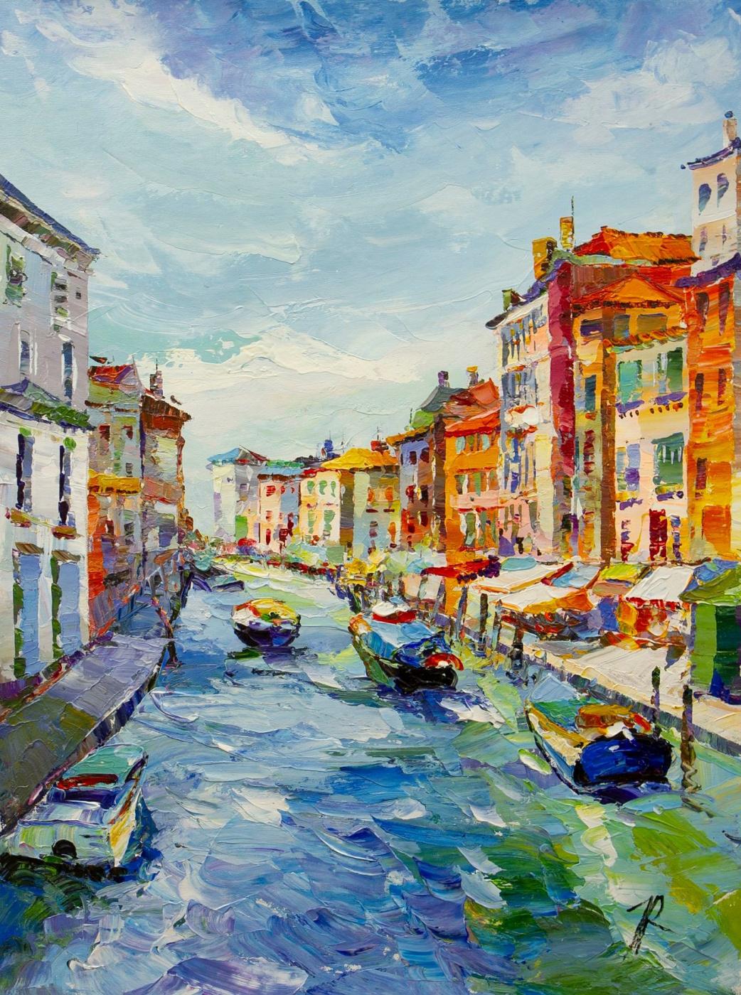Jose Rodriguez. Venetian canal. Bright noon