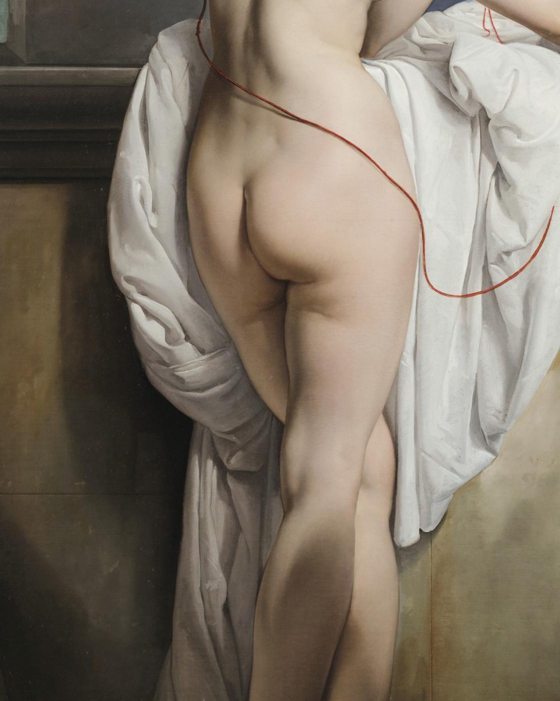 Франческо Айец. Венера с двумя голубями (Портрет балерины Карлотты Шабер). Фрагмент