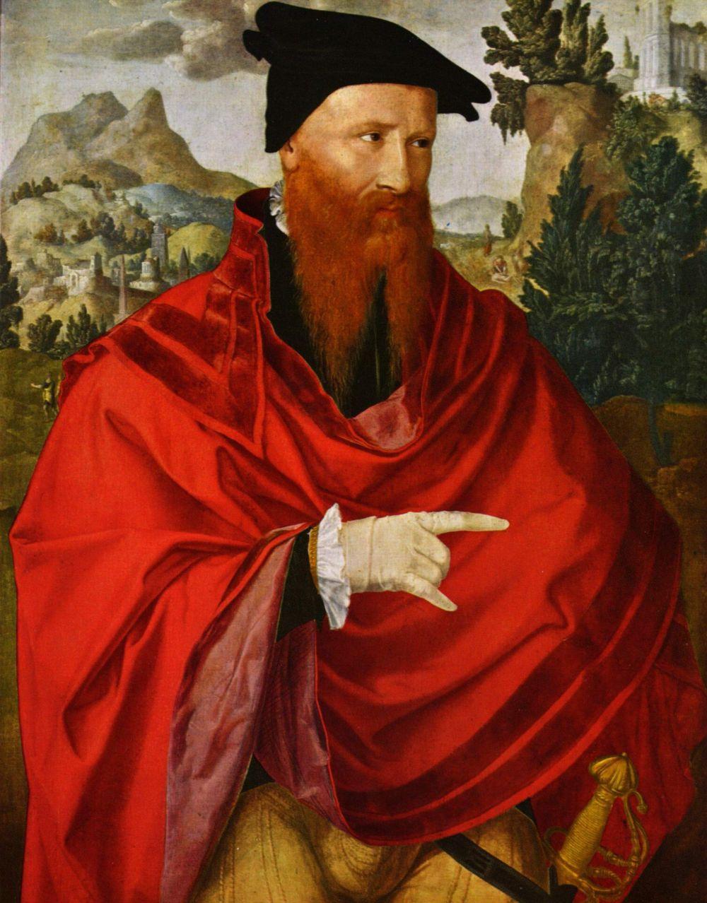 Jan van Skorel. Portrait of the Anabaptist David Joris