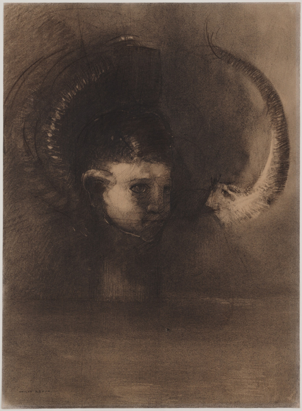 Odilon Redon. Dreaming Of A Polyp