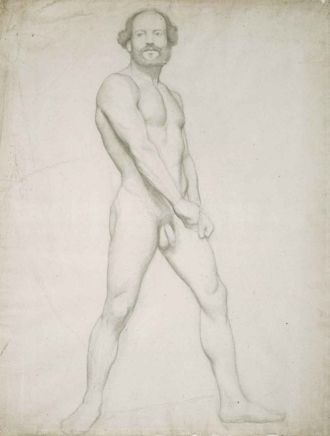 Edgar Degas. A naked man. Sketch