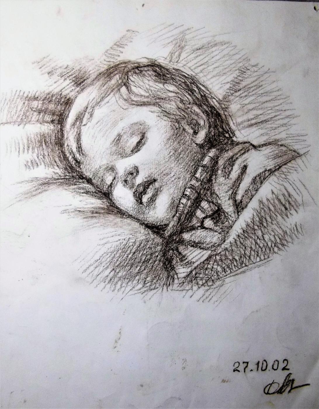 Ruslan Vasilievich Derevtsov. Sleeping Andryusha. (2002)