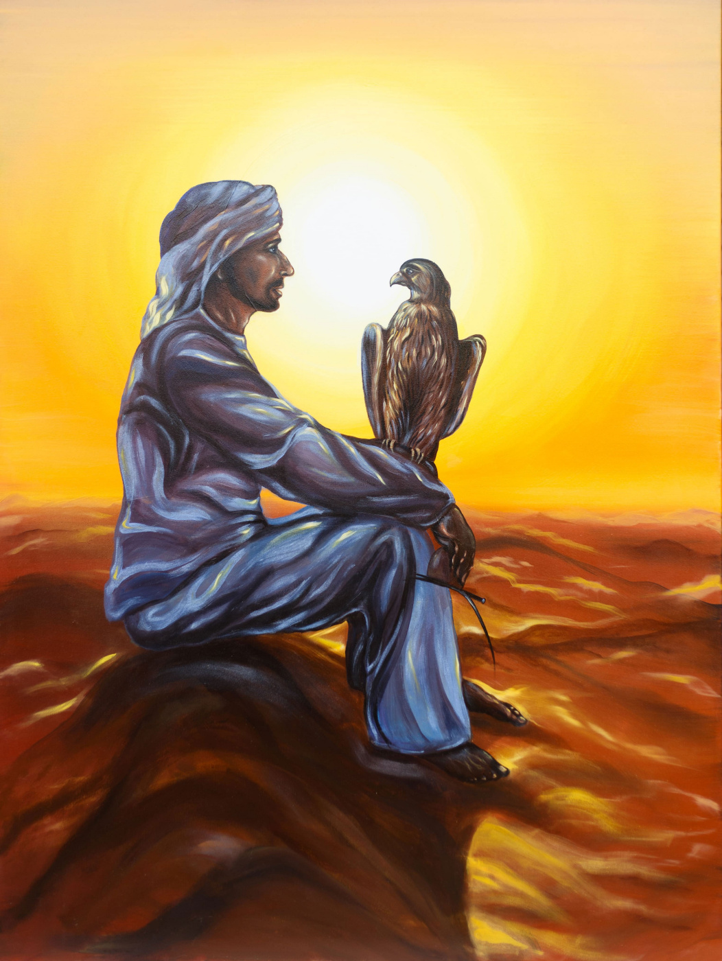 "Alla Struchayeva. The painting ""Secret dialogue"""
