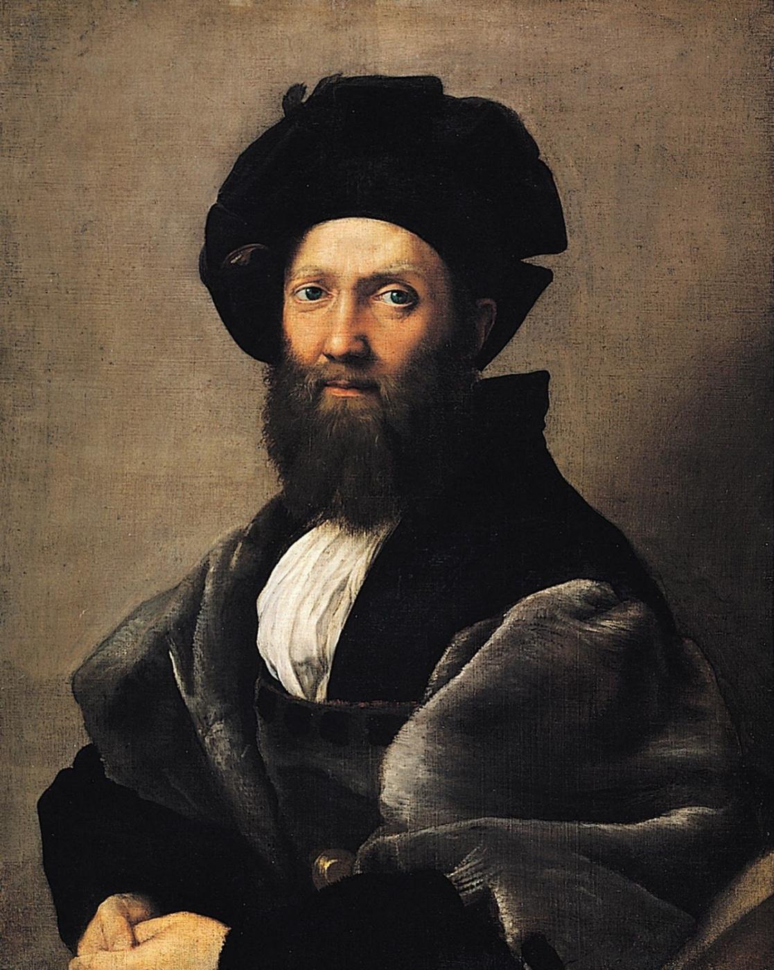 Raphael Sanzio. Portrait of count Baldassare Castiglione
