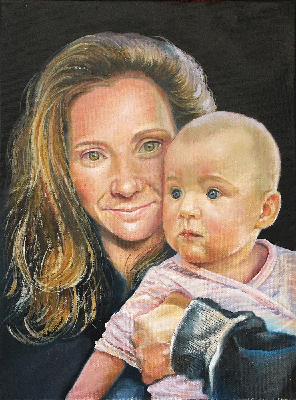 Екатерина Владиславовна Ивлева. Mother and child