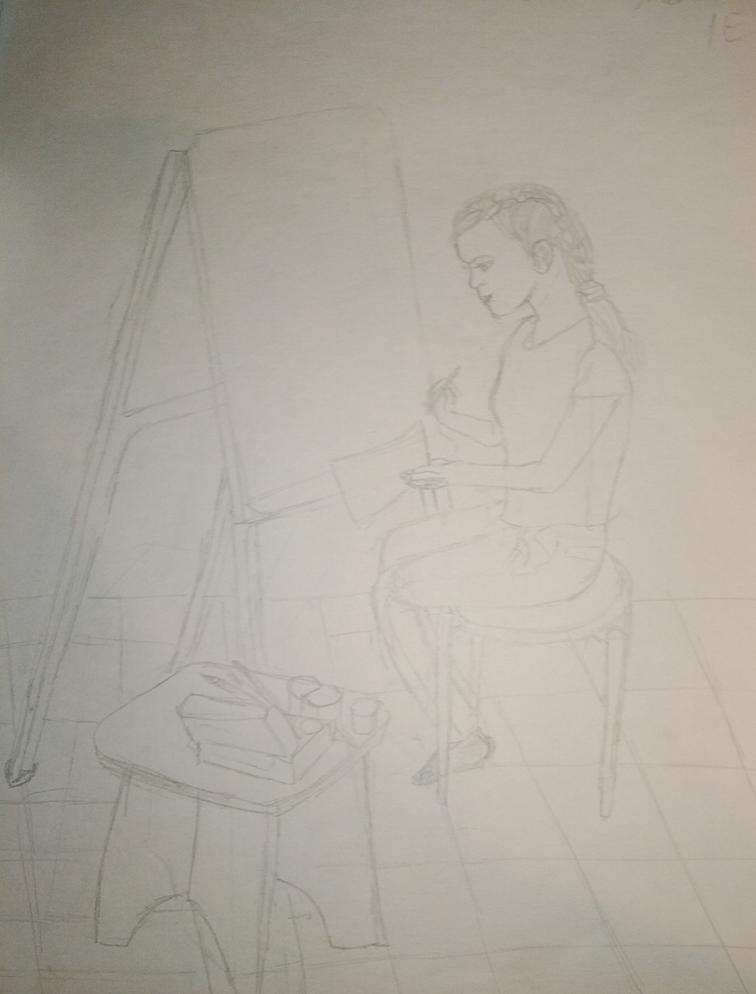 Zina Vladimirovna Parisva. Girl. Figure sketch