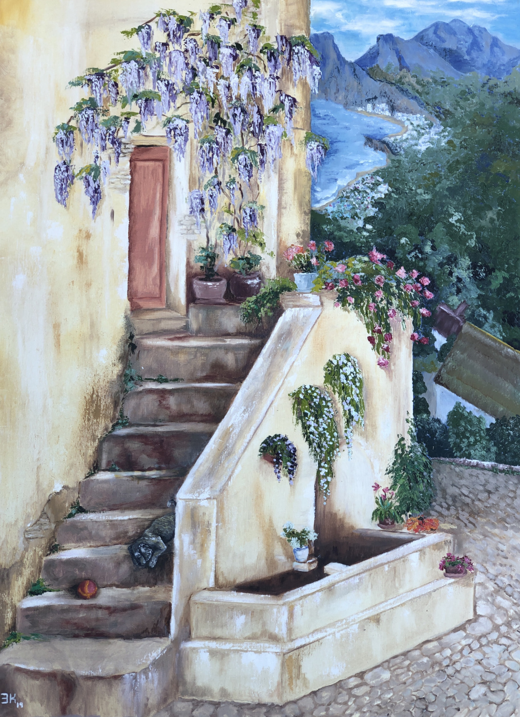 Elmira Kandykbayeva. Mediterranean landscape
