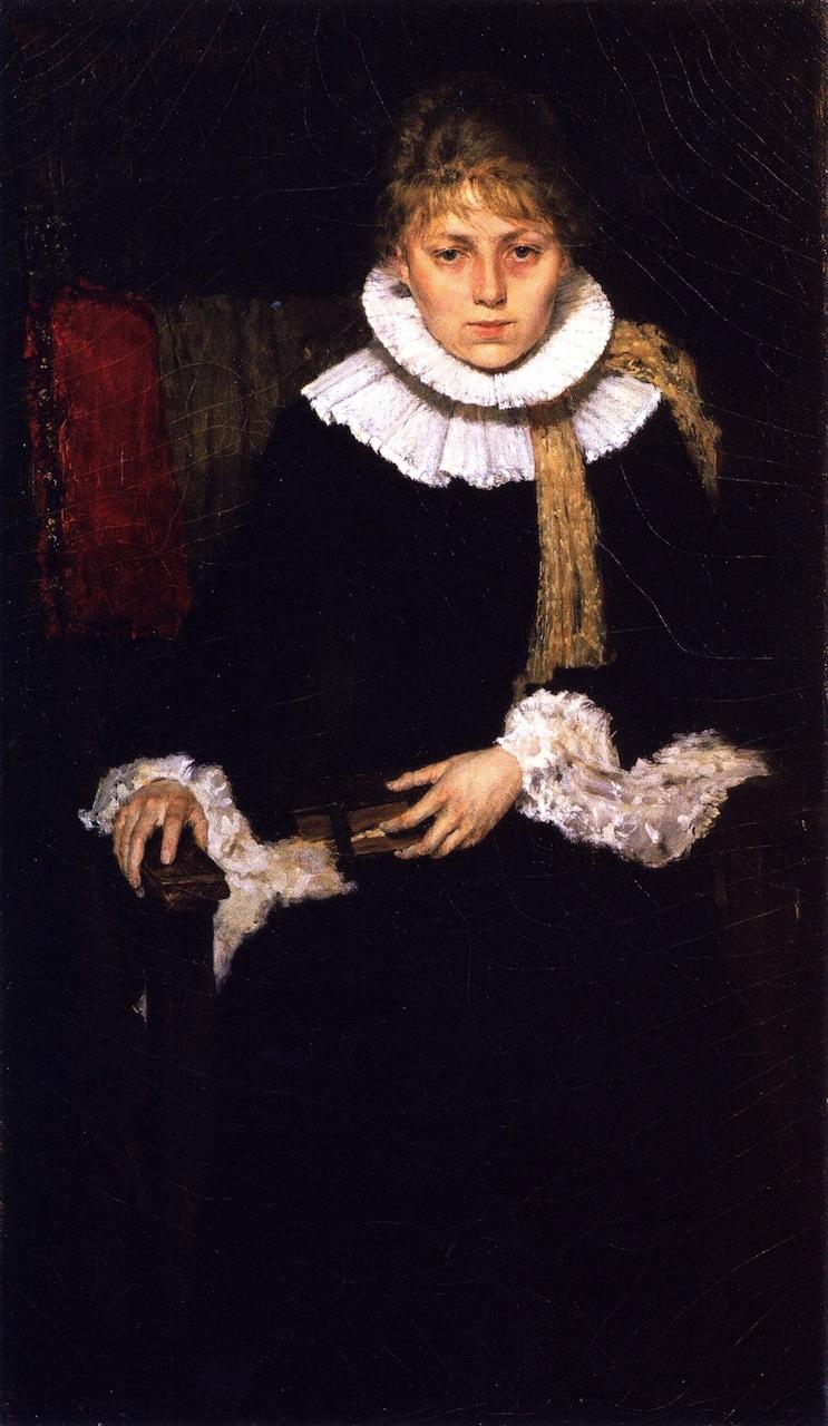 William Merritt Chase. Portrait of a woman