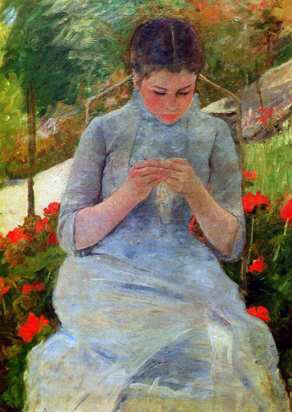 Mary Cassatt. The girl in the garden