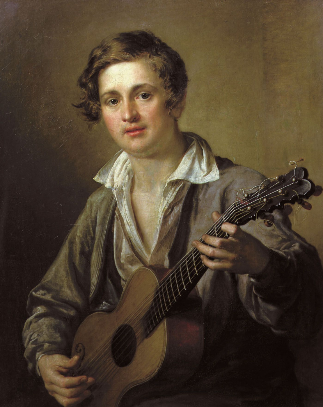 Vasily Tropinin. Guitarist