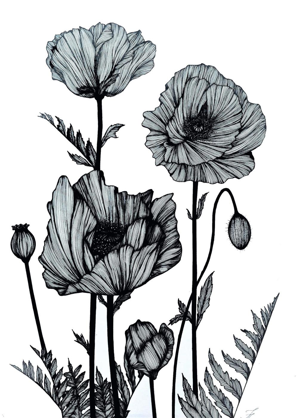Julia Alekseevna Faberge. Poppies