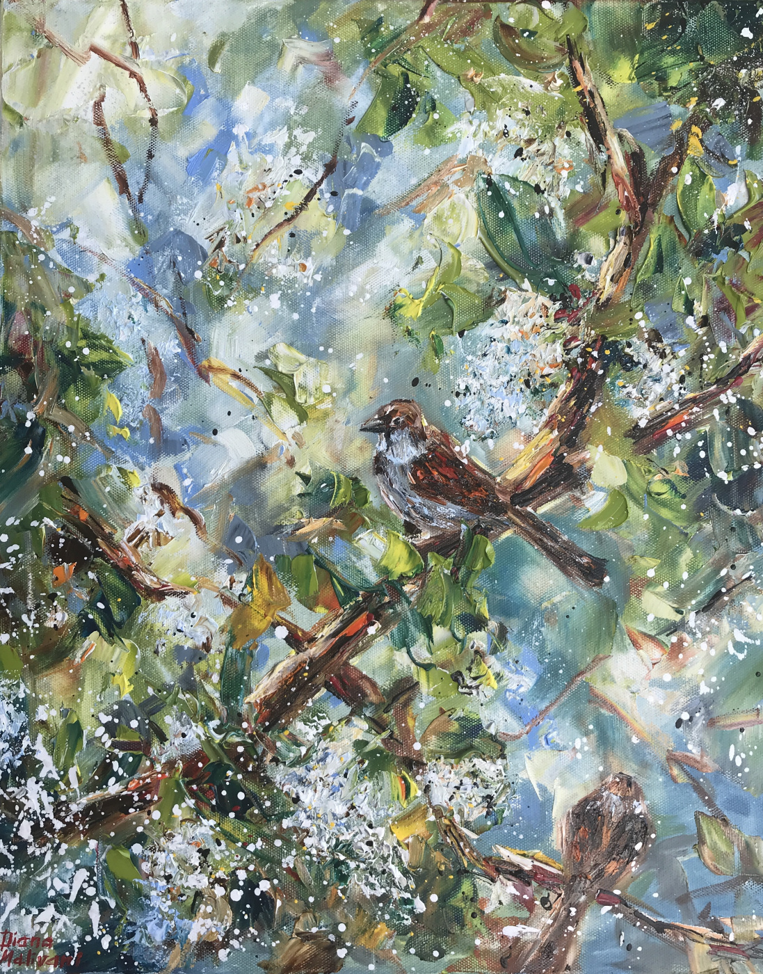 Диана Владимировна Маливани. Bird Cherry Tree