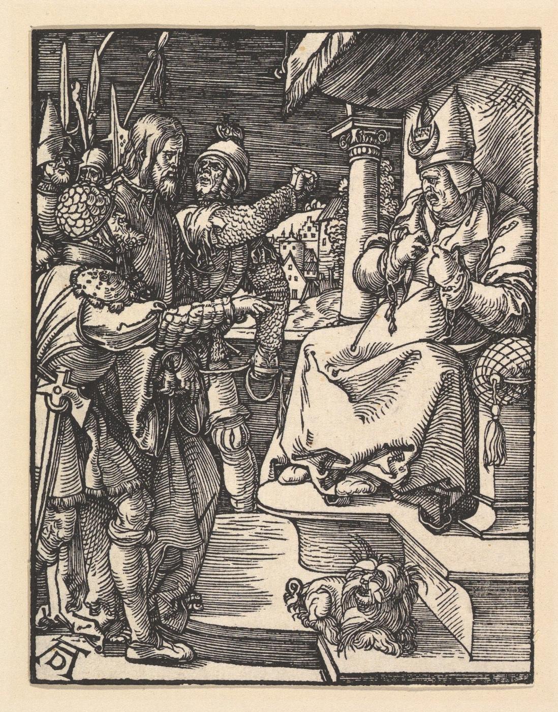 Albrecht Dürer. Christ before Caiaphas