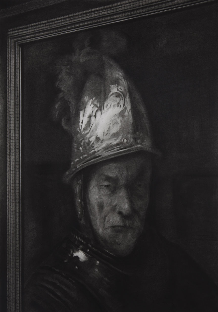 Rick de Boux. Portrait of a man in a helmet