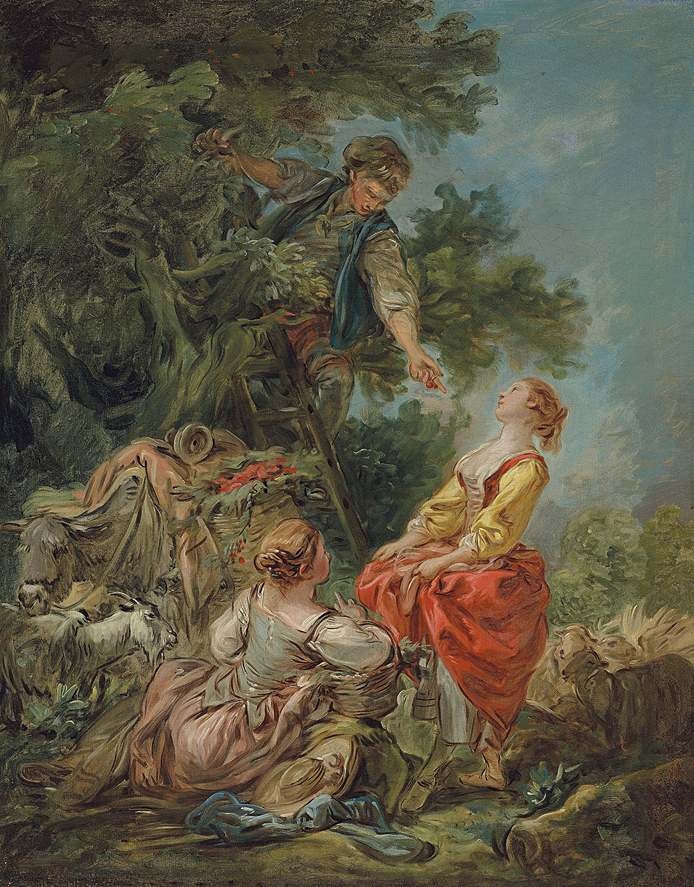 Jean Honore Fragonard. Picking cherries