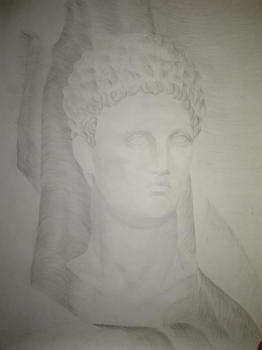 Novikov V.. Plaster head 90s