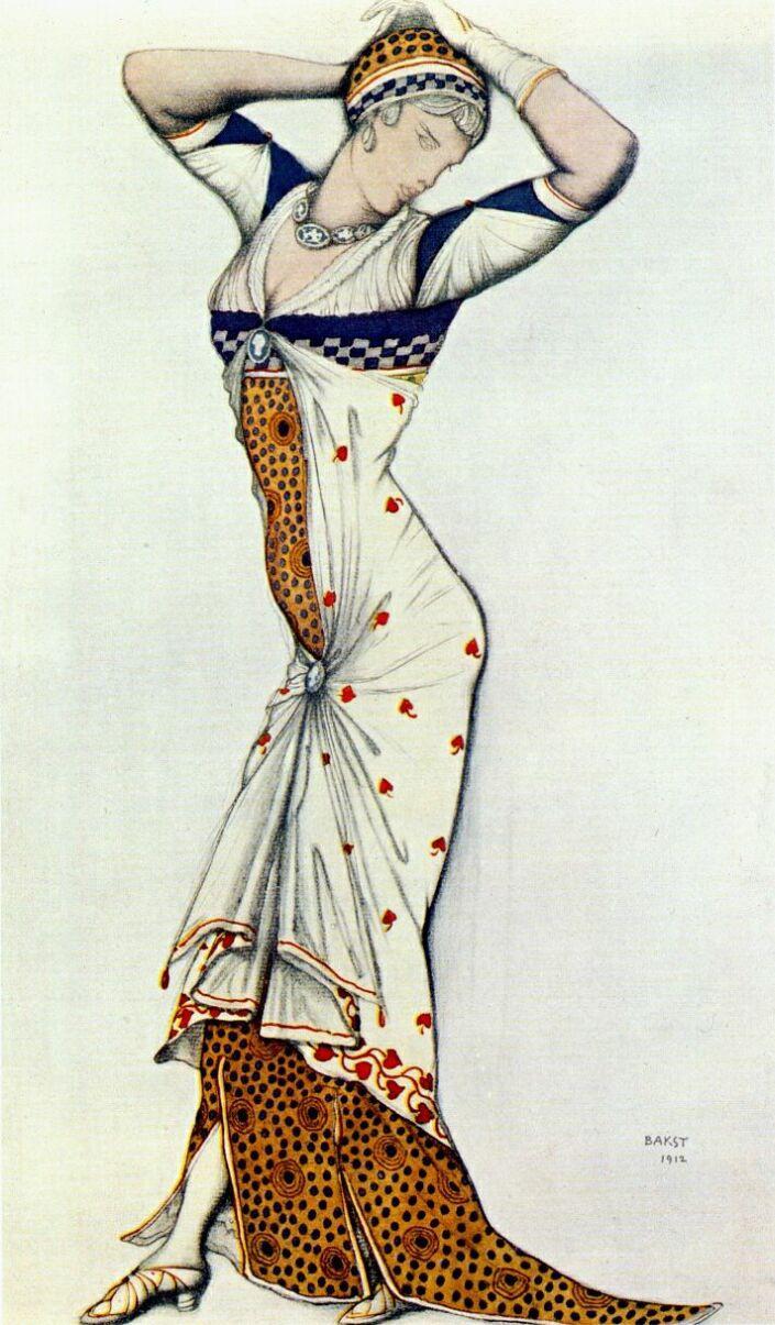 "Lev (Leon) Bakst. Costume design ""Aglaya"""