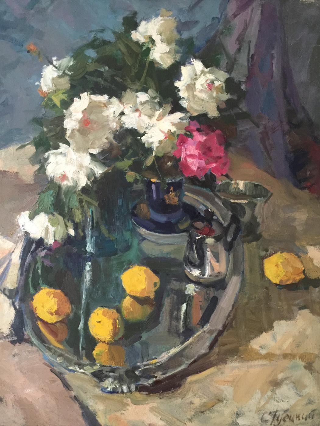 Simha Natanovich Guetsky. Still life with lemons