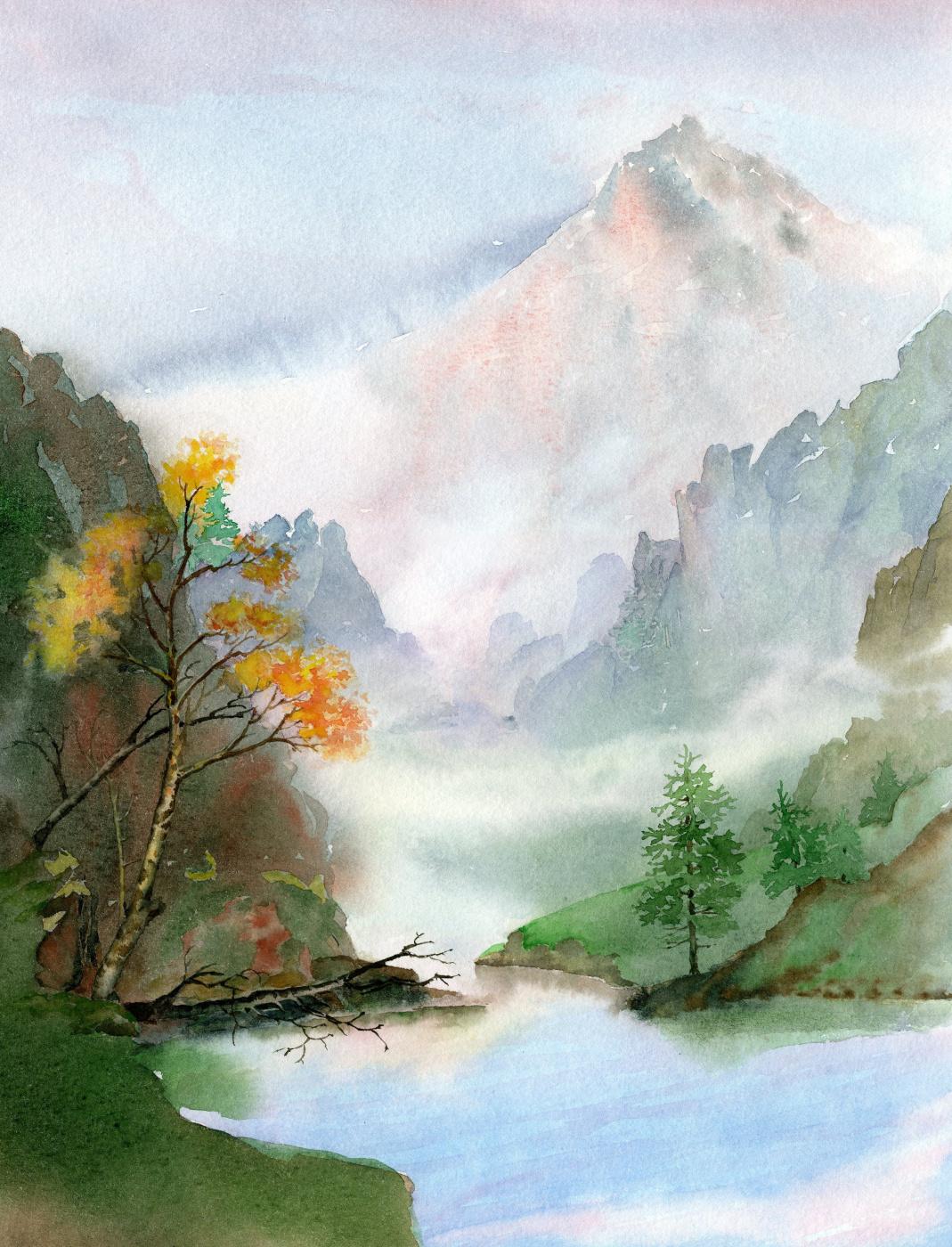 Smbat Arayevich Bagdasaryan. Ural landscape