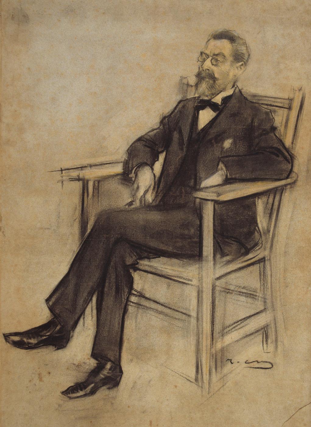 Ramon Casas i Carbó. Portrait of Eusebi Korominas