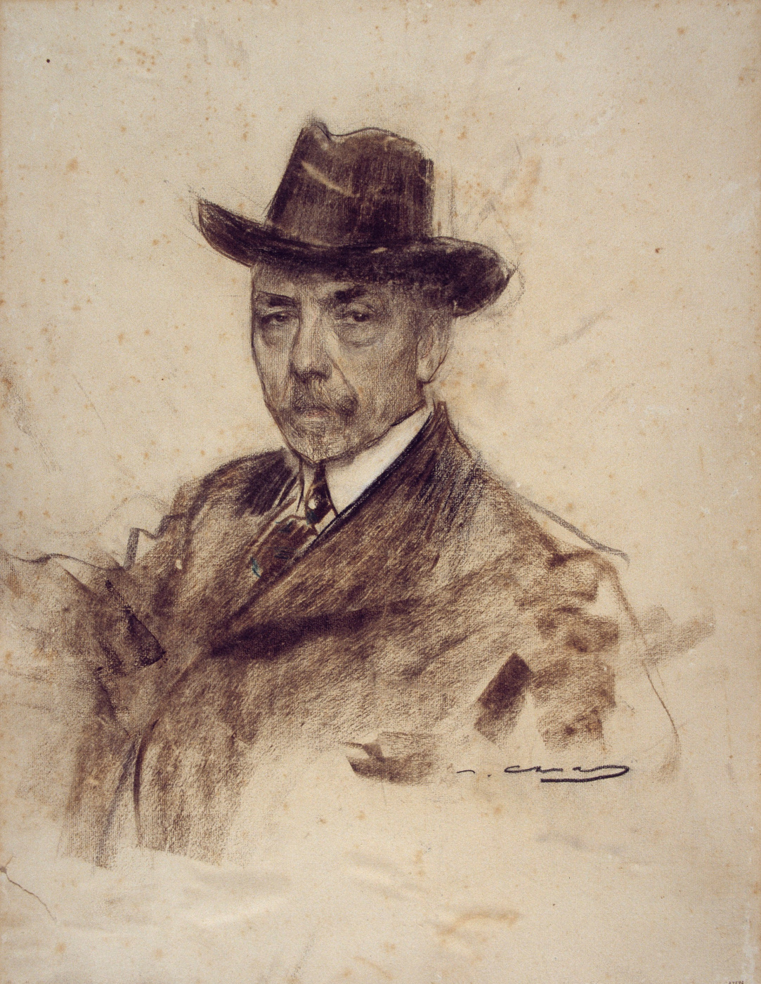 Ramon Casas i Carbó. Portrait of Jules Mariaal