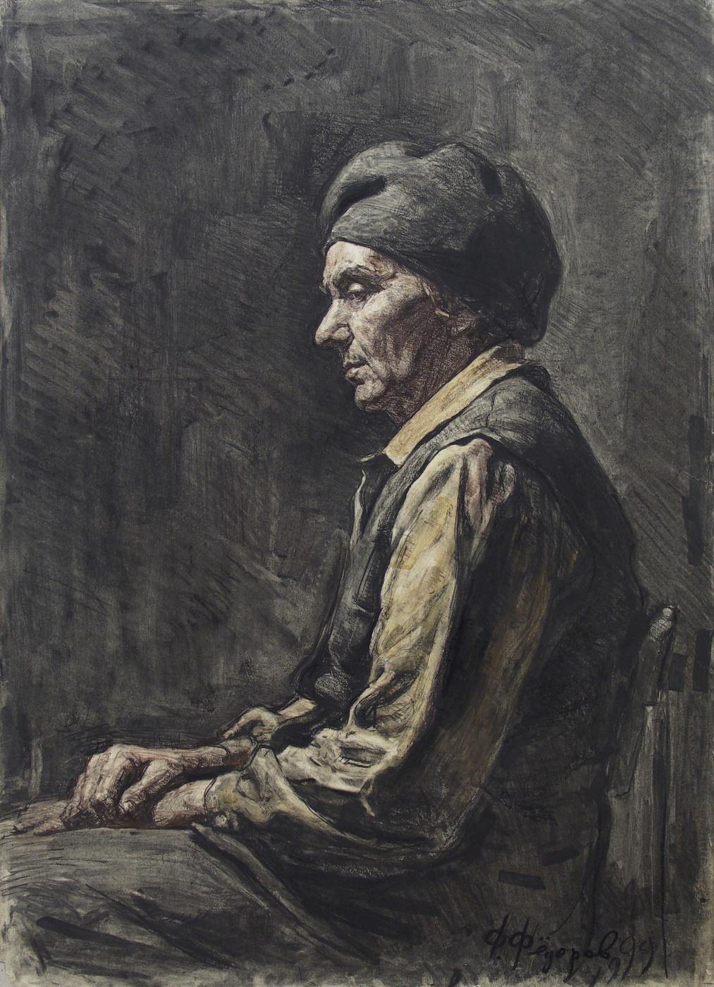 Фёдор Борисович Фёдоров. Portrait of Rimma Petrovna Bazarova
