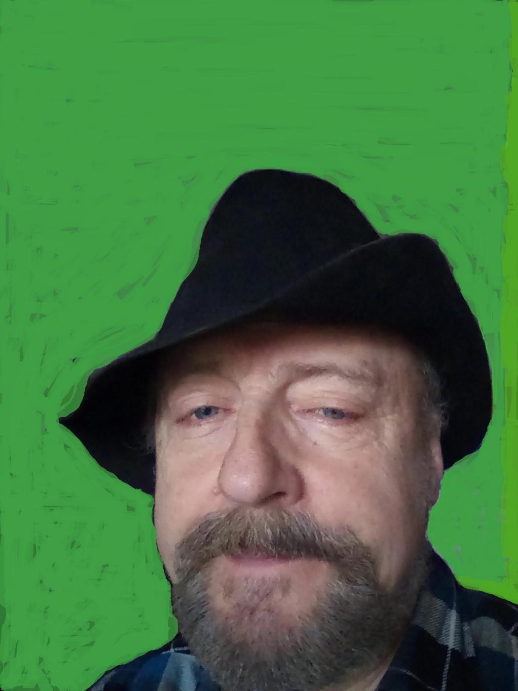 """Alexey Grishankov (Alegri). """"Portrait of an artist in a black hat"""""""