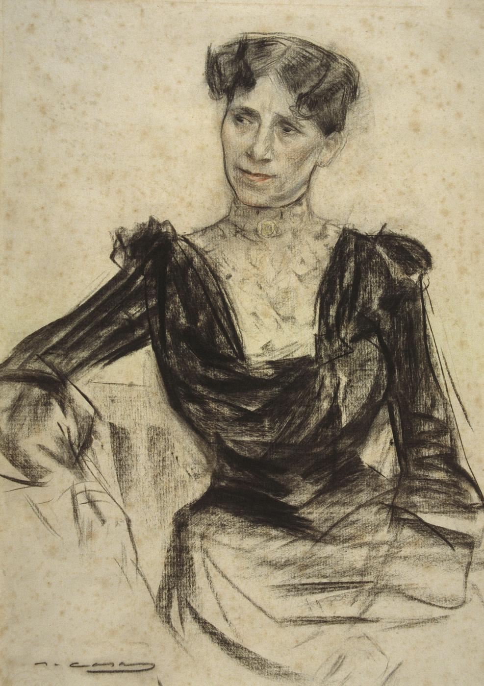Ramon Casas i Carbó. Portrait Paumy