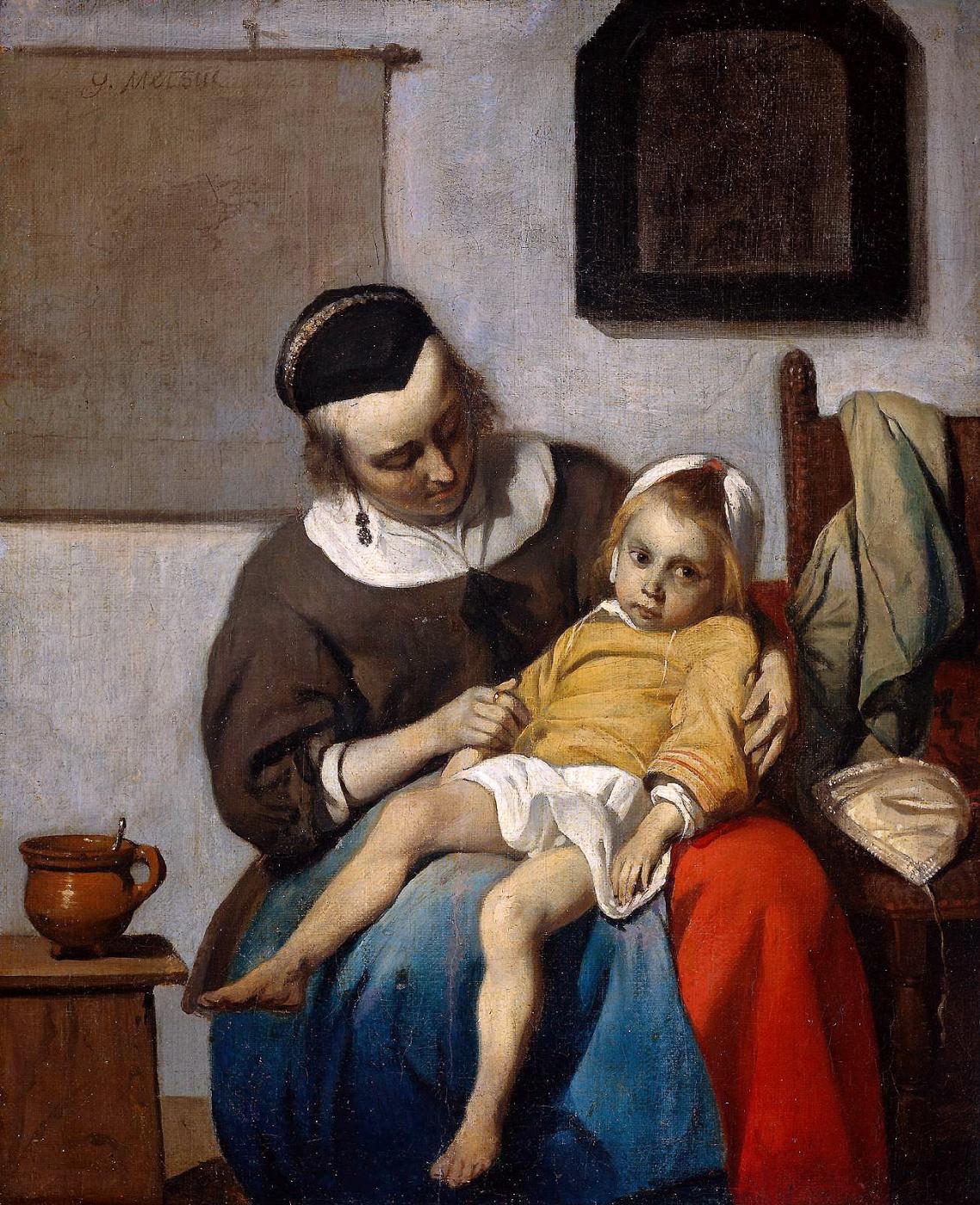 Gabrielle Metsu. A sick child
