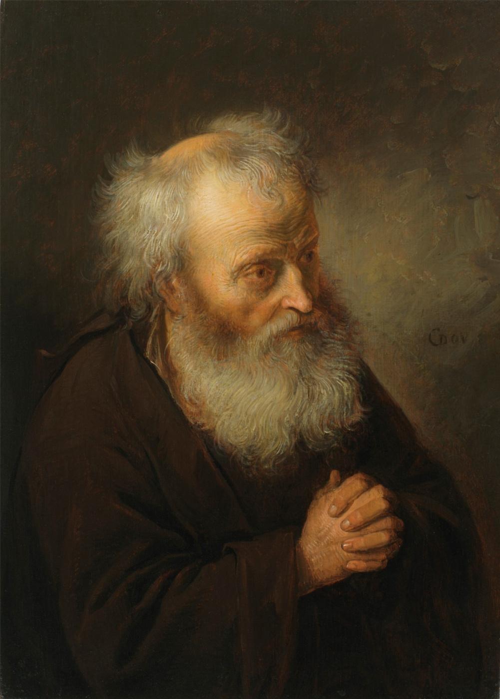 Gerrit (Gerard) Dow. The old man at prayer