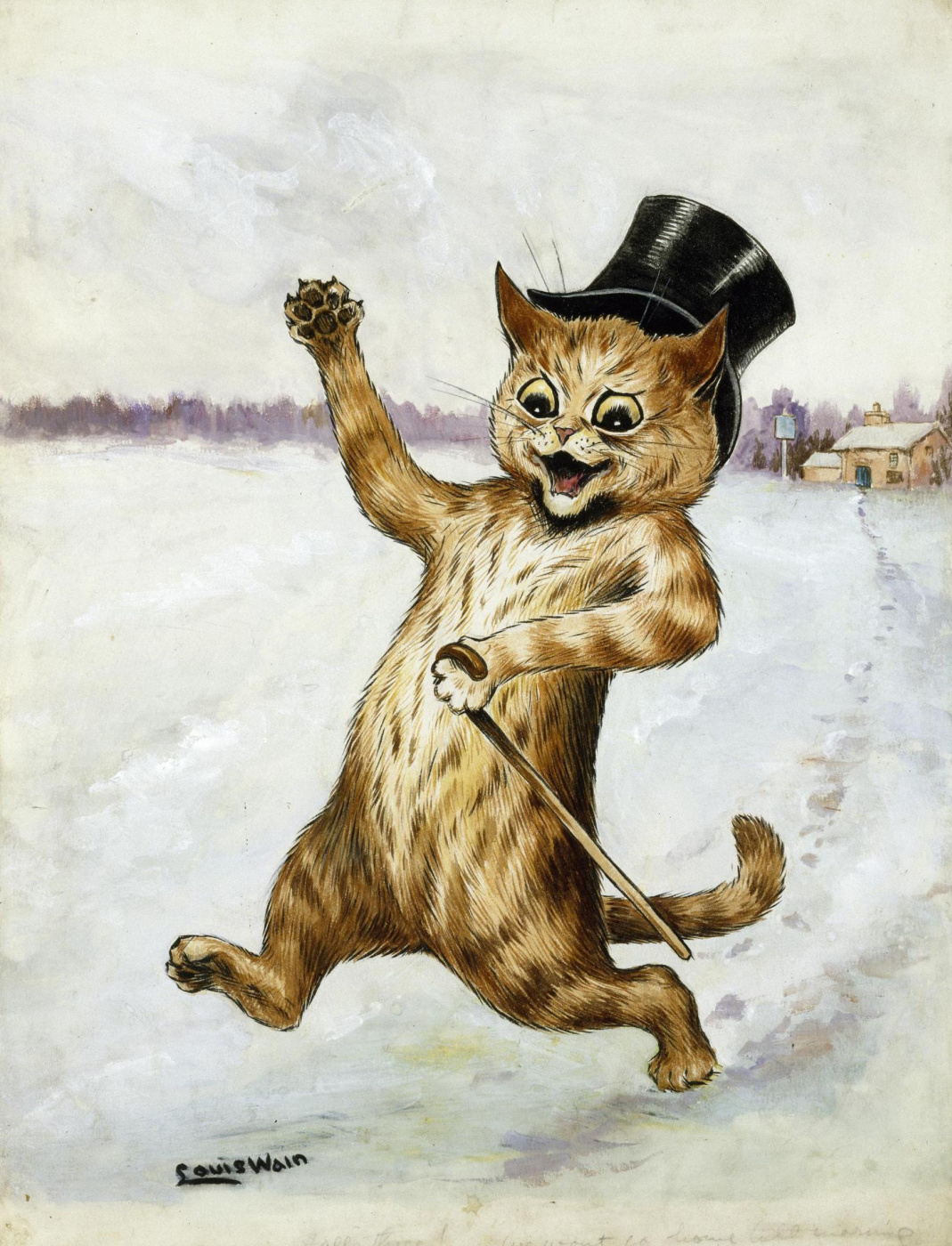 Louis Wain. I won't be back home until morning!