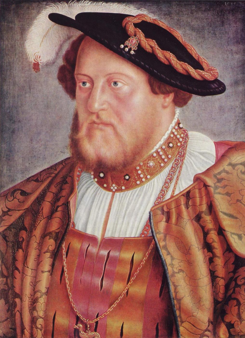 Barthel Beham. Portrait of count Palatine Ottheinrich