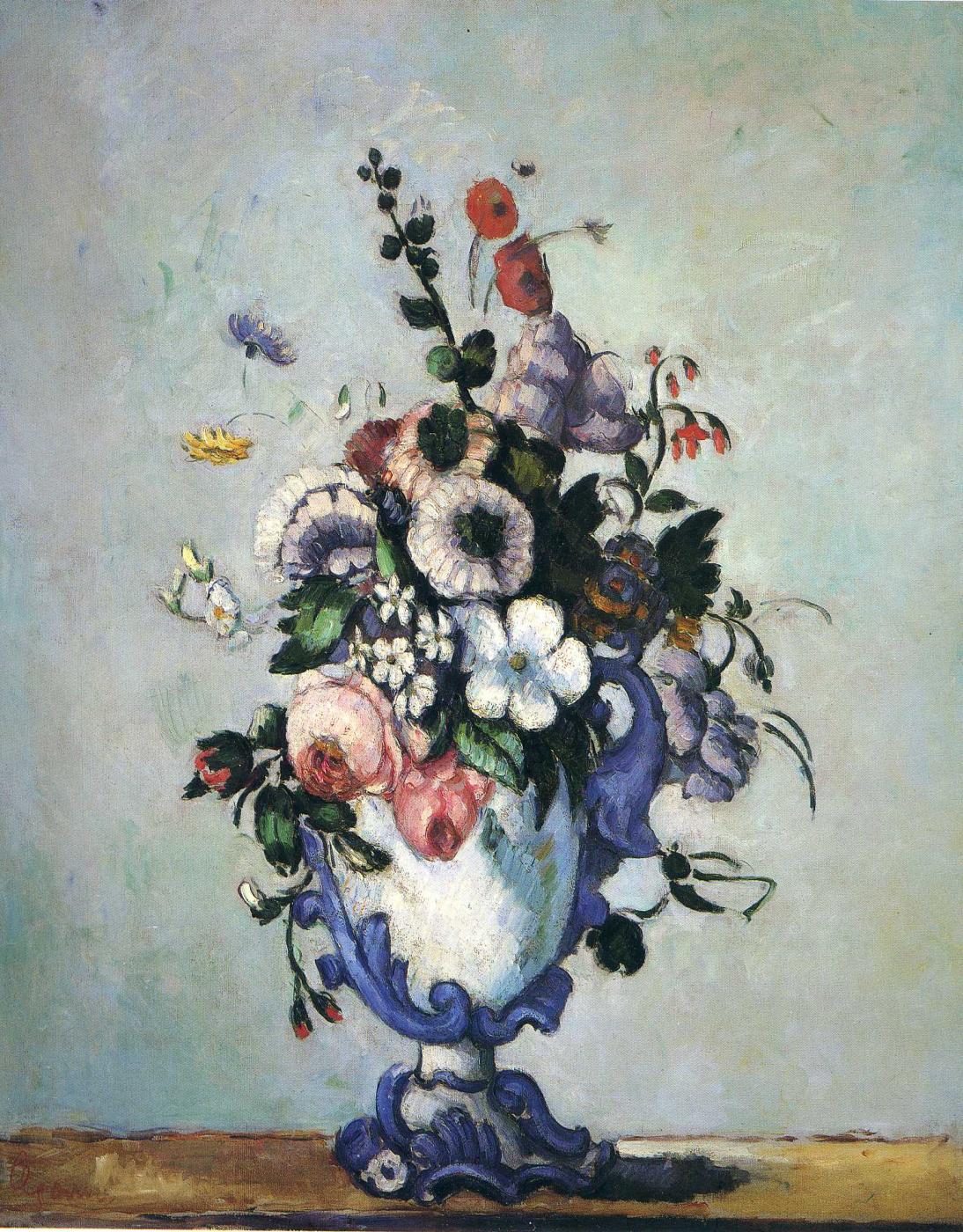 Paul Cezanne. Flowers in a vase Rocco