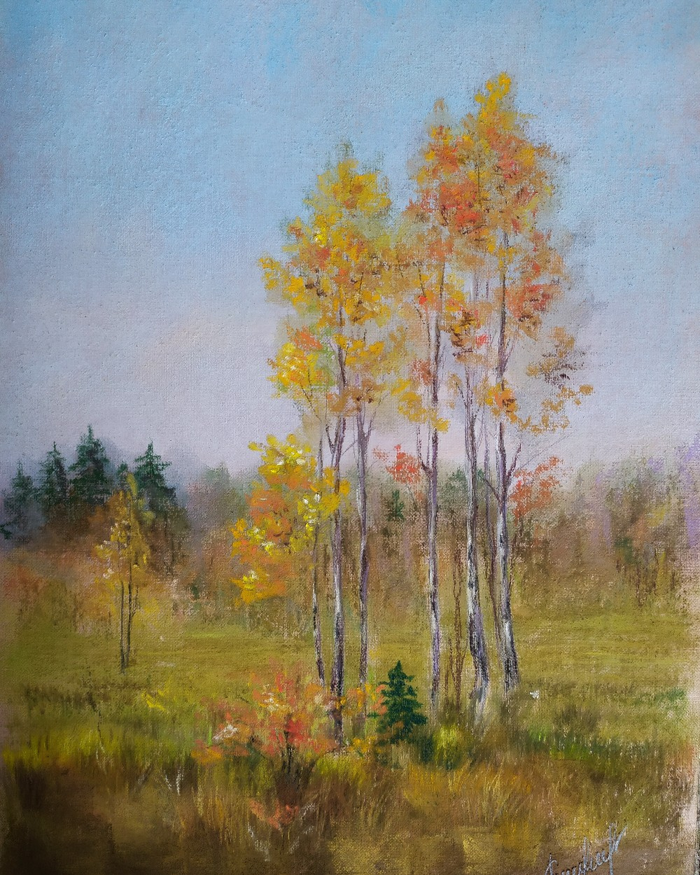 Алина Евгеньевна Шварёва (Галкина). Tender autumn landscape