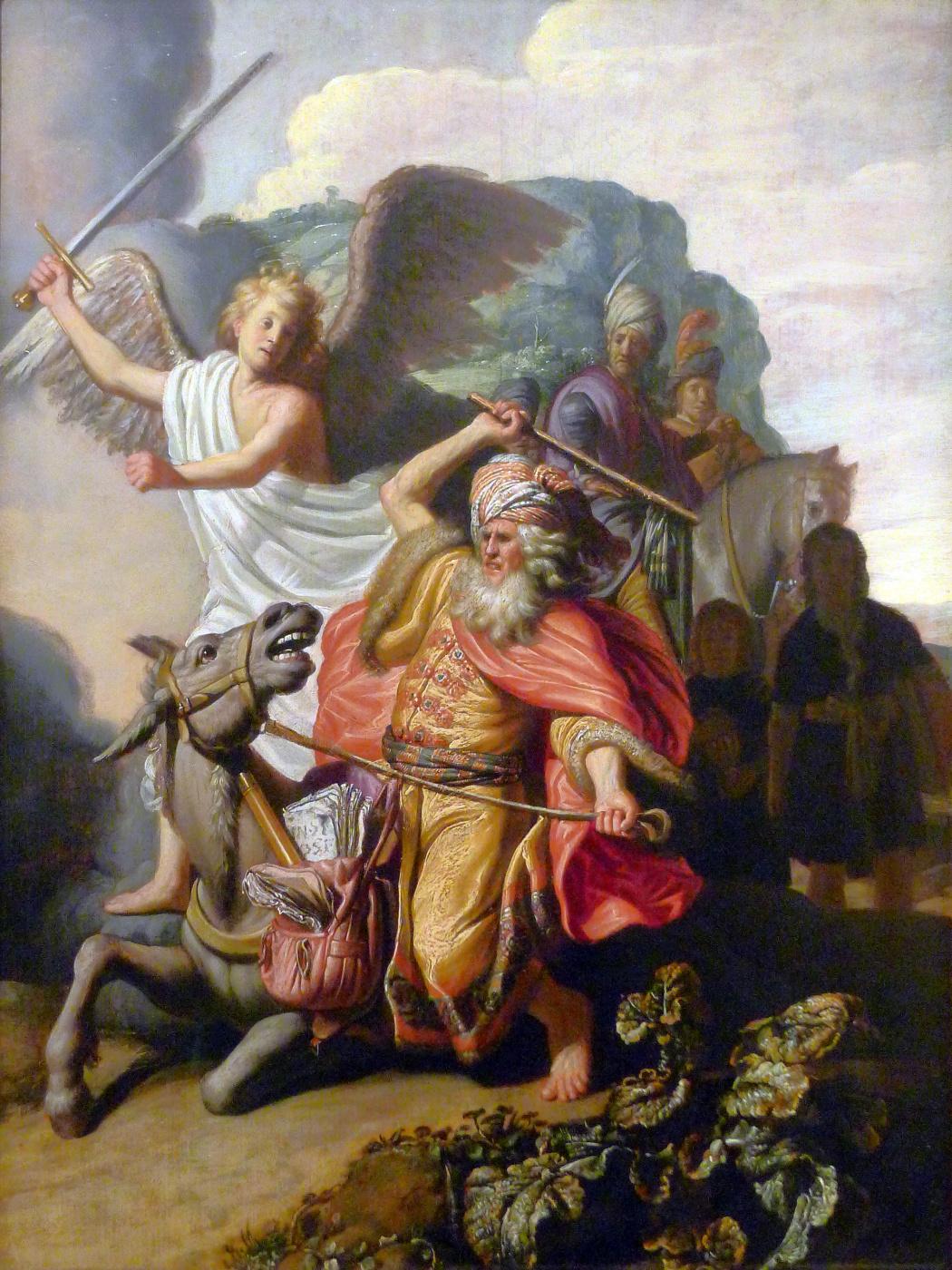 Rembrandt Harmenszoon van Rijn. The prophet Balaam and the donkey