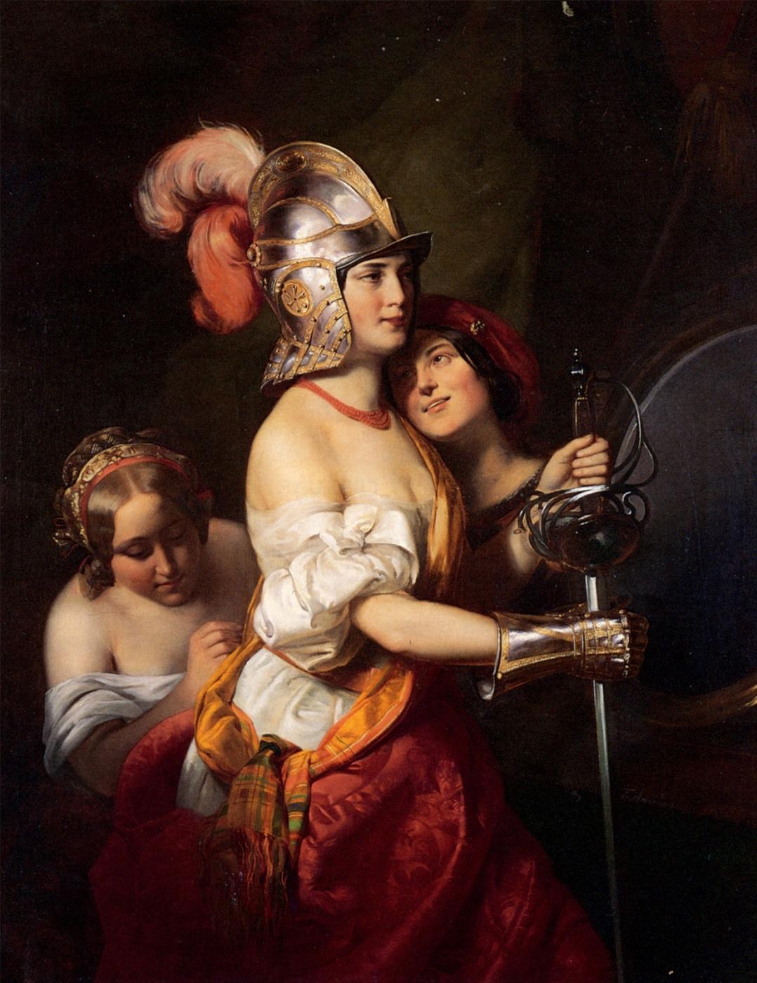 Friedrich von Amerling. The girl in armor.