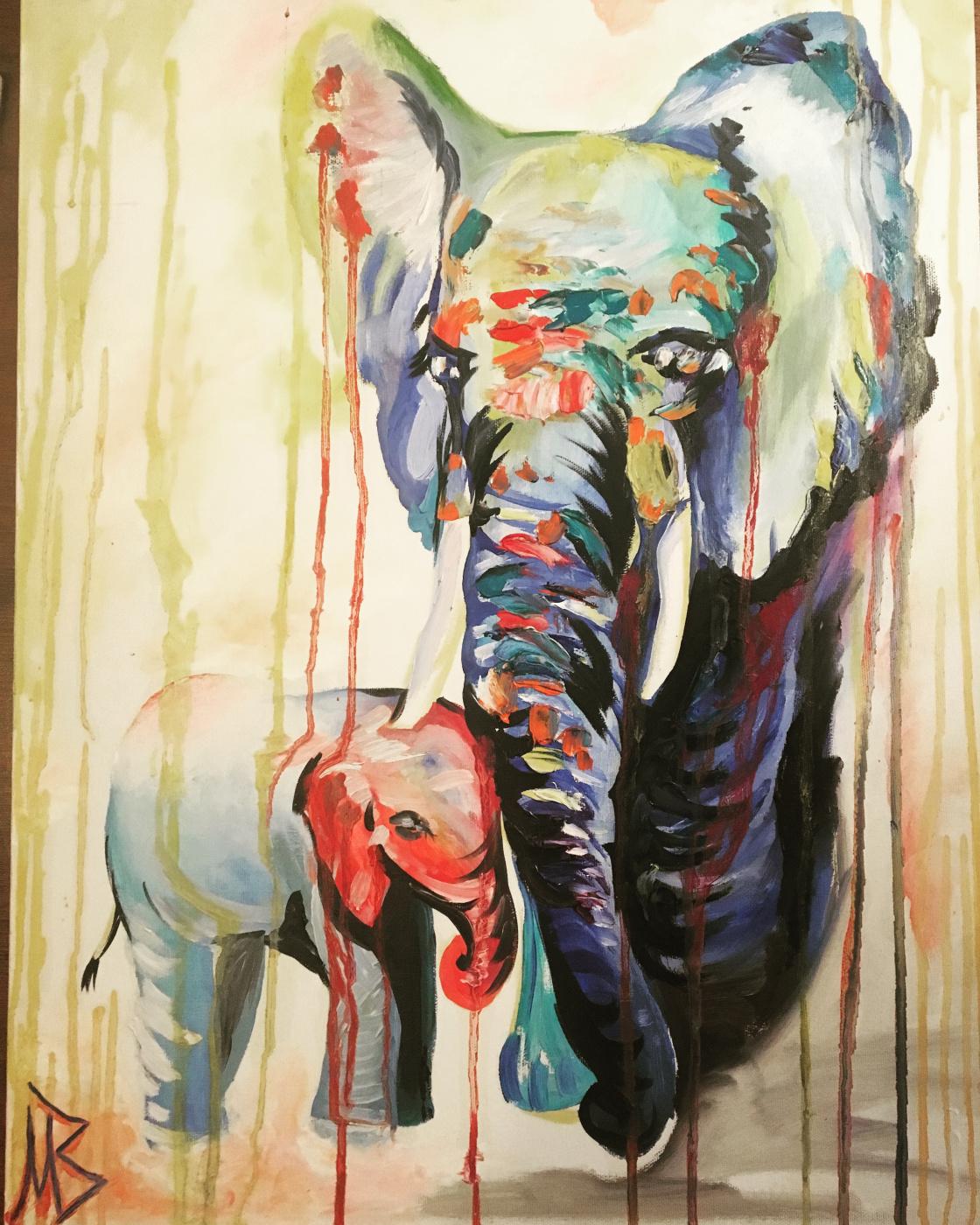 Victoria Makhmudova. Elephants