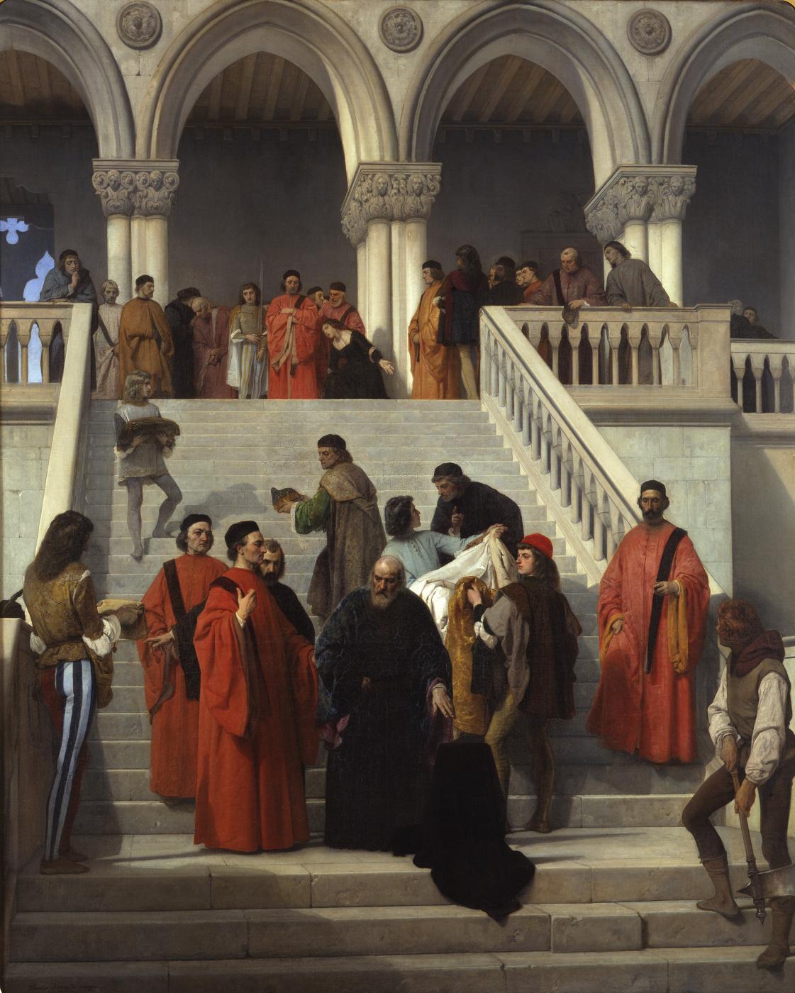 Francesco Ayets. The death of Doge Marina Faliero