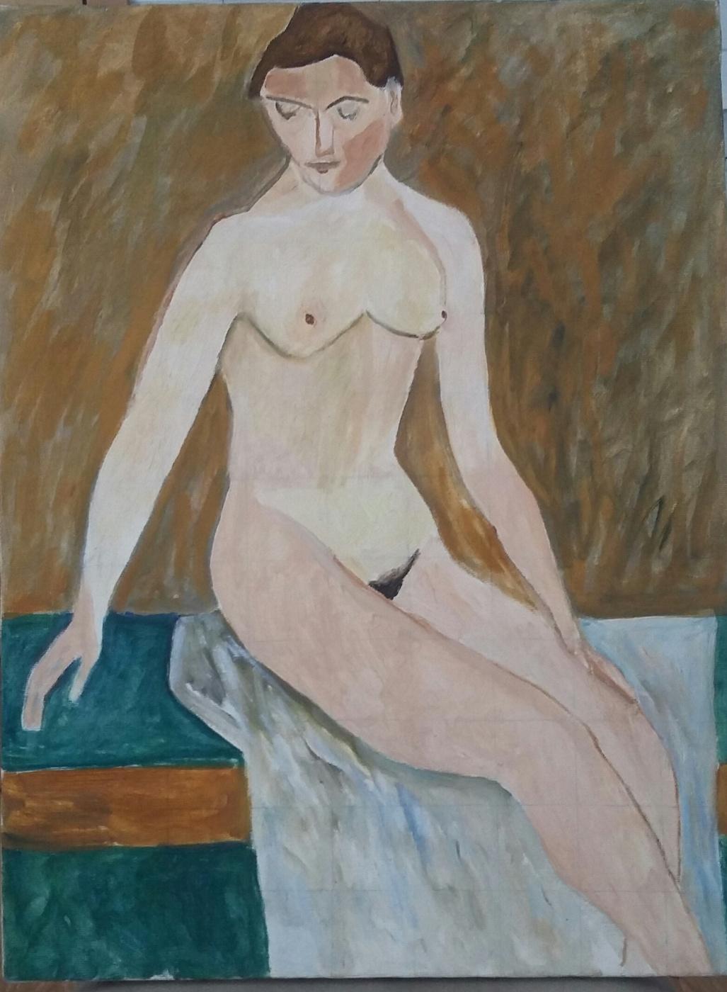 Vasily Dmitrievich Yuzko. Girl