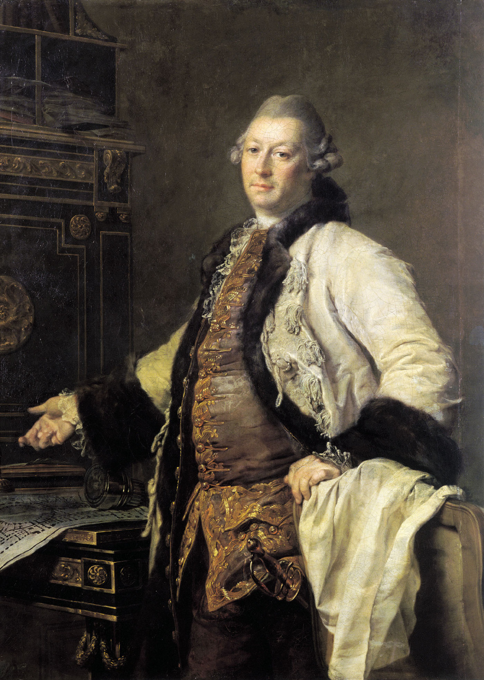 Dmitry Grigorievich Levitsky. Portrait of architect Alexander Fillipovich Kokorin
